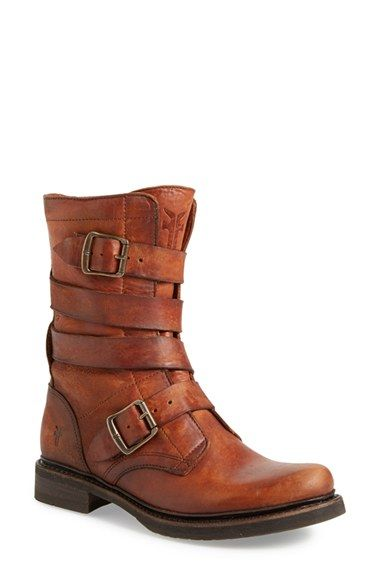 Free shipping and returns on Frye 'Veronica' Tanker Boot (Women) at Nordstrom.com. A fusion of rustic- and biker-chic adds edge to this round toe boot highlighted by rows of leather straps.