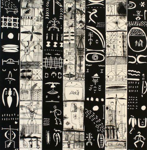 Lot 45 John Pule, lithograph, Tuanafele Lologo