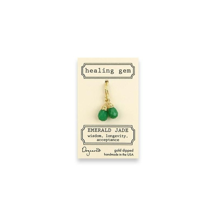 Dogeared Emerald Jade Earrings at aquaruby.com