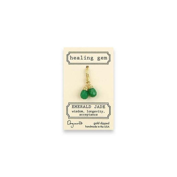 Dogeared Emerald Jade Earrings at aquaruby.com