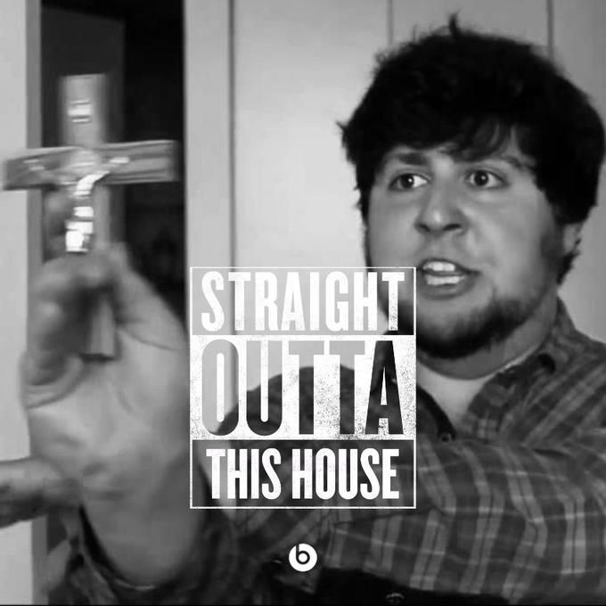 Straight outta this house meme. Straight outta Compton meme.