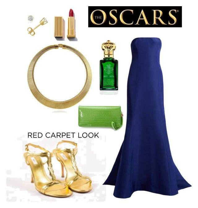 """""""Silent night"""" by wardrobepieces on Polyvore featuring BERRICLE, Amanda Rose Collection, Prada, Oscar de la Renta and Clive Christian"""