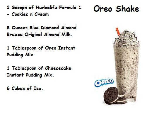 Oreo Shake   http://www.goherbalife.com/emilybearss/en-US