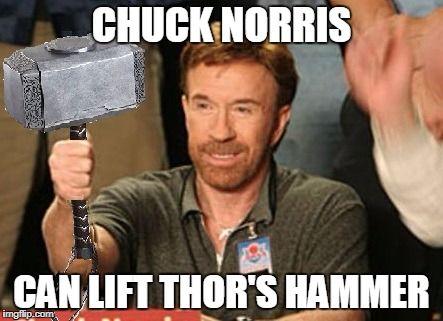 Chuck Norris Thor's hammer
