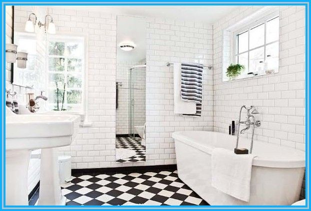 black and white bathrooms - Google Search