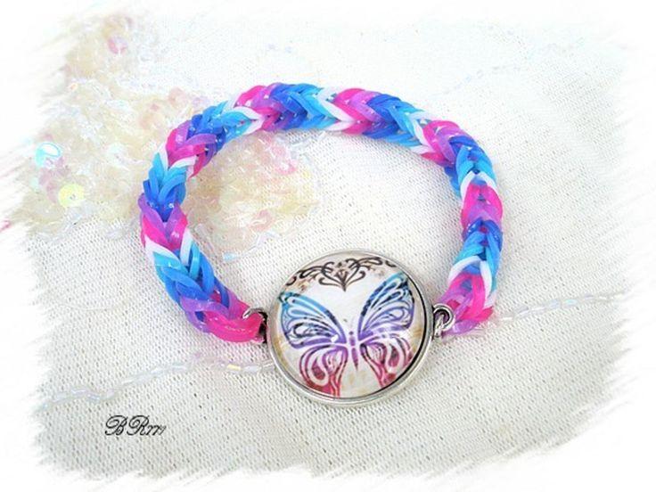 bracelet elastique tr ss rainbow loom br771 bracelet. Black Bedroom Furniture Sets. Home Design Ideas