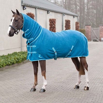 Horze Ricky Fleece Rug With Neck Horse Tack Riding Arel