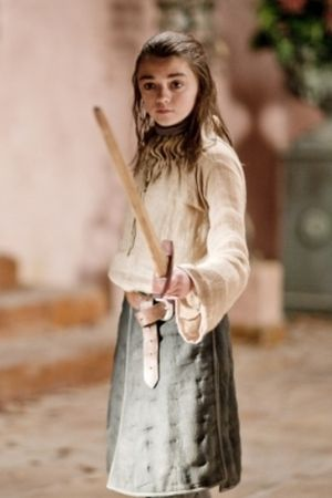 Maisie Williams is Arya Stark - Game of Thrones costume idea for Elle since she won't cut her hair for the on the run costume