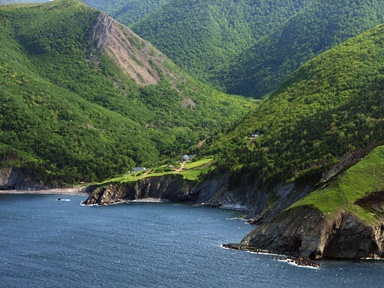 Cape Breton's northernmost community, Meat Cove...with the worst road we have ever driven on....