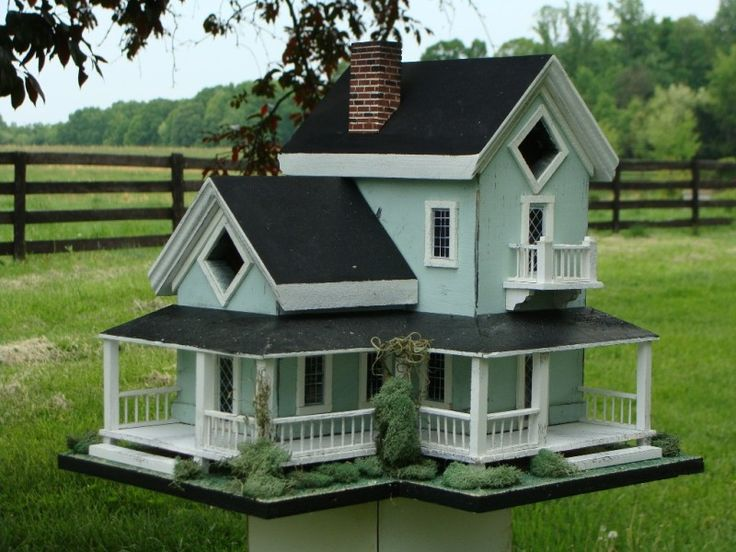 Victorian+cottage+birdhouses | He also has an etsy shop . We are still working on getting all his ...