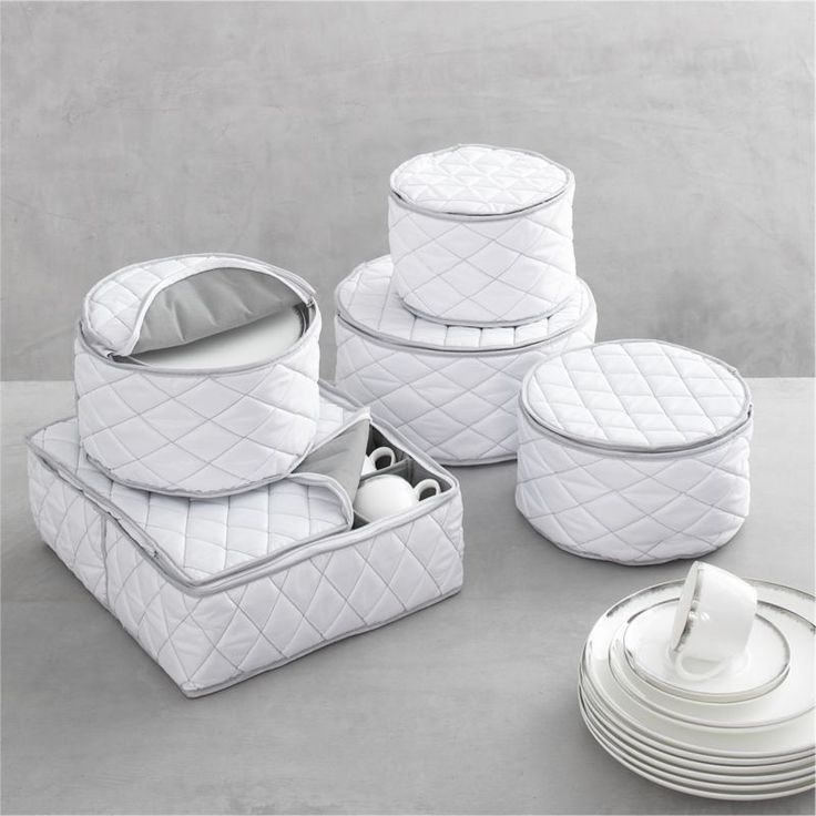 19 best China and Crystal storage images on Pinterest | Chicken ... : quilted dish storage - Adamdwight.com