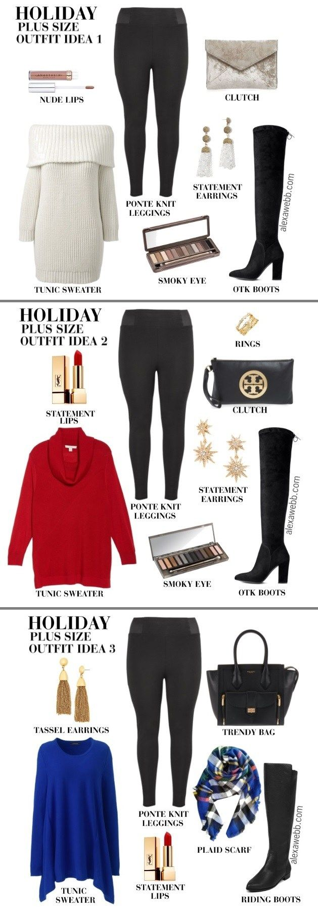 Plus Size Christmas Day Outfit Ideas - Plus Size Holiday Outfit Ideas - Plus Size Fashion for Women - alexawebb.com #alexawebb #plussize #christmasoutfit #outfit