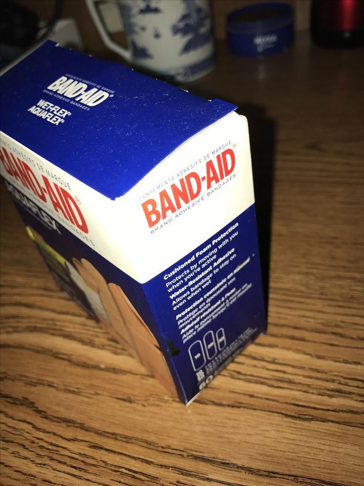 "Emphasis: this represents emphasis because of how the light hits the bandaid box and the shadow reflects on the table. When I see this the first thing I notice is the red bold color of the word ""band-aid"""