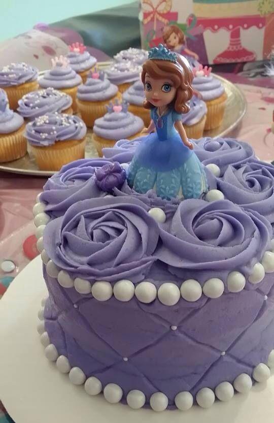 Princess Sofia Cake and Cupcakes