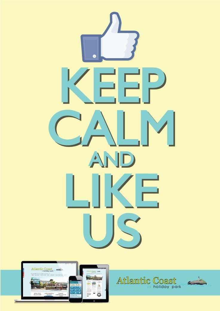 #KeepCalm & like @cornwallpark on #Facebook