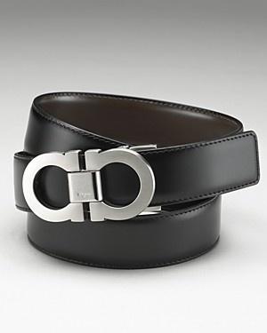 Ferragamo double Gancini reversible belt.