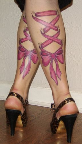 tattoo pink bow