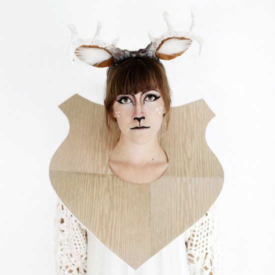 Turn yourself into a taxidermy deer for Halloween this year!