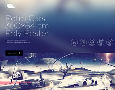 """Check out new work on my @Behance portfolio: """"Retro Cars Polygons Poster"""" http://be.net/gallery/32794543/Retro-Cars-Polygons-Poster"""