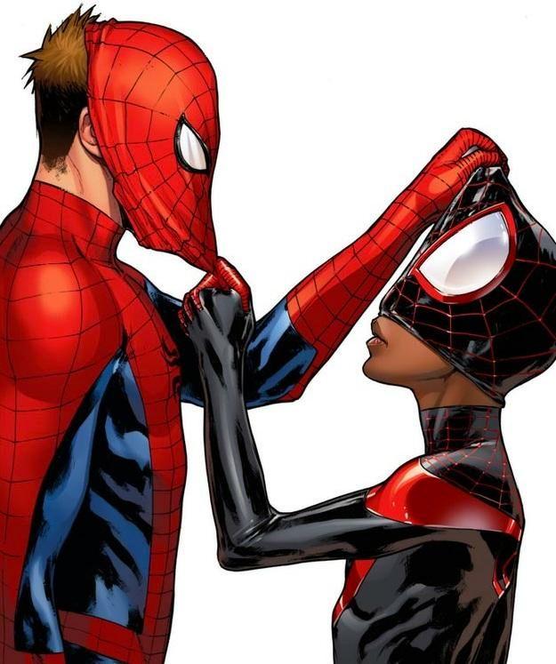Spider-Men art by Sara Pichelli. (Marvel Comics)