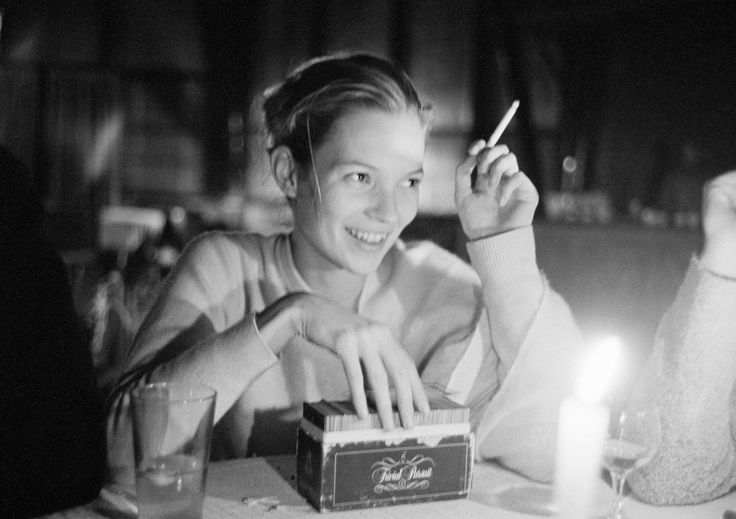 """ARTHUR ELGORT: THE BIG PICTURE Kate Moss, 1993, Nepal """"I don't know how to play Trivial Pursuit, but she does. Yes, I think she's very good."""""""