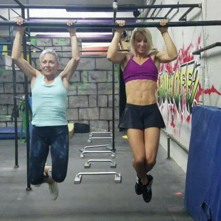 [Video] Jessie Graff Motivating her mom to do pull ups