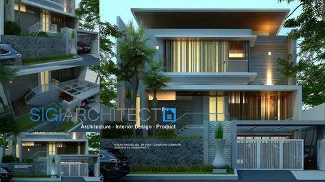 desain rumah modern minimalis 3 lantai 2