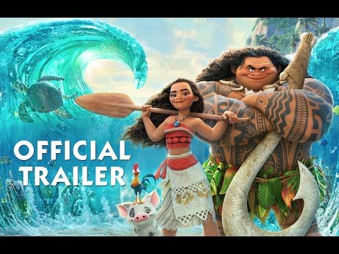 動画ディズニーの最新映画モアナと伝説の海のトレーラーザロックことドウェインジョンソンとアウリィクラヴァーリョが冒険の旅へ