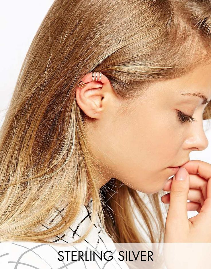 ASOS Gold Plated Sterling Silver Open Ear Cuff Pack