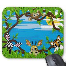 Jungle Animals Hiding Mousepad