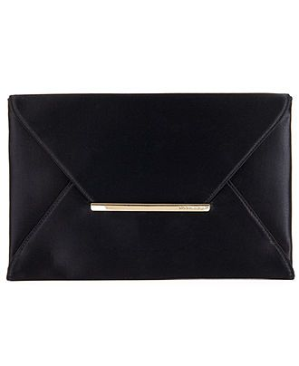 BCBGMAXAZRIA Handbag, Harlow Satin Envelope Clutch - Handbags & Accessories - Macy's comes in black or hot pink satin