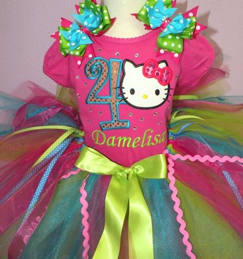 Hello Kitty Hot Pink Special Birthday Girls Tutu Outfit Set...The perfect outfit for Vianna <3