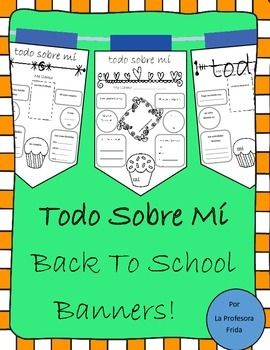 These All About Me banners are a great way to get to know your students during the start of a new term!  Have each student fill one out, and fill one out for yourself to let them get to know you better too!    Students fill in the banners using newly acquired Spanish vocabulary at the beginning of Spanish 1 (more advanced Spanish students, Levels 2, 3, 4 will still enjoy this activity, you will know what's right for your students!).