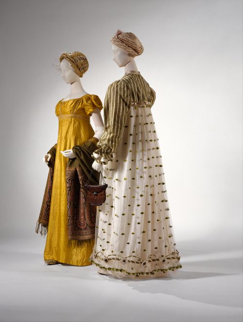 Empire style dress 1800s clothing
