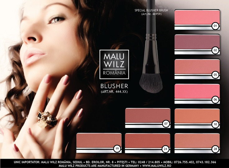 BLUSHER are available at MALU WILZ ROMANIA! MALU WILZ Products are manufactured in Germany! www.maluwilz.ro