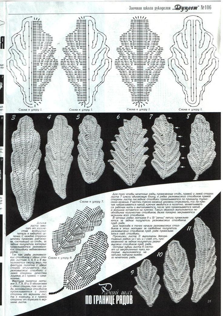 Fall leaves crochet patterns