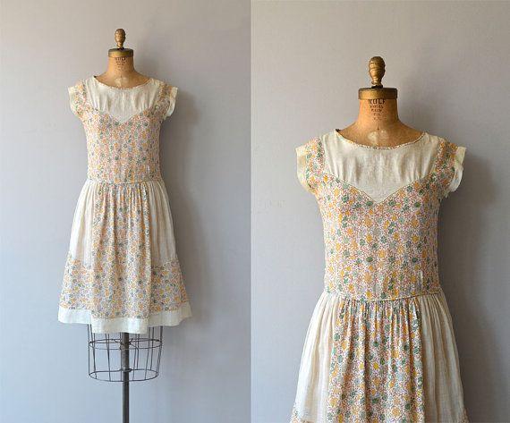 Summer's End dress  1920s cotton dress  vintage by DearGolden
