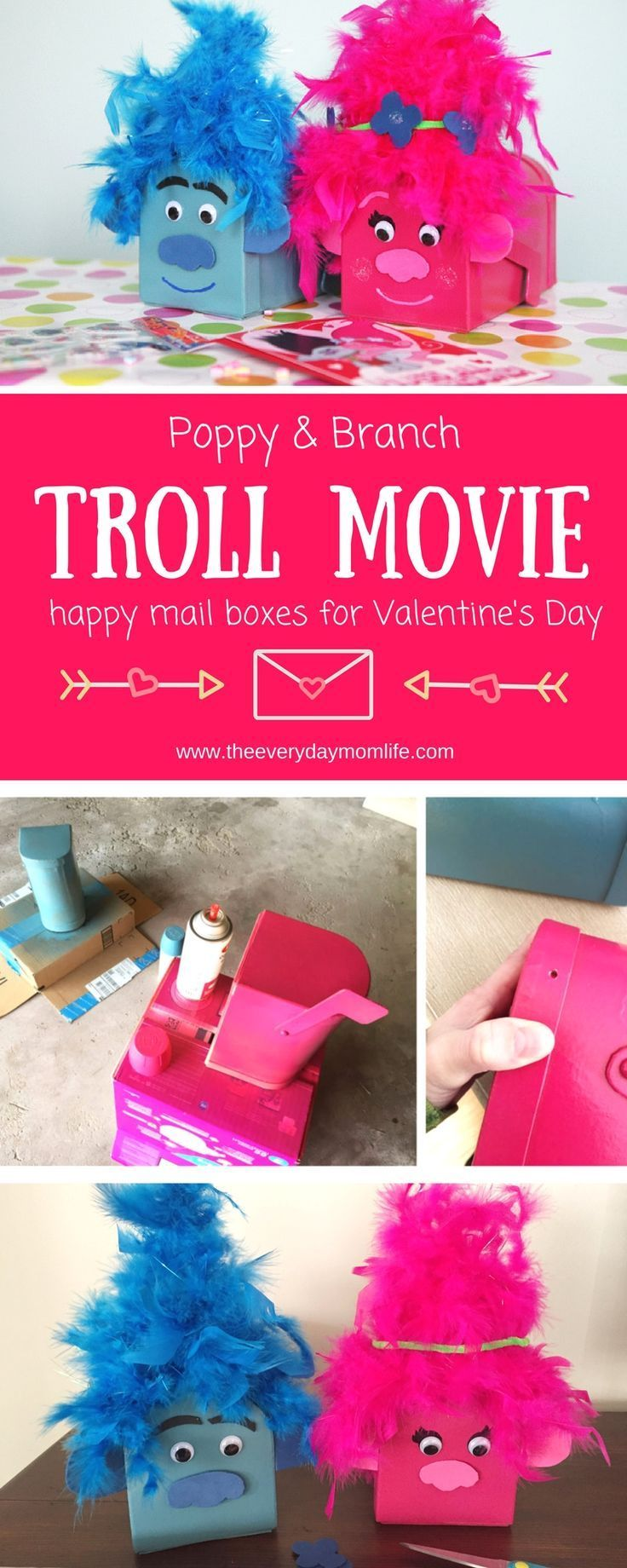 troll movie card boxes for happy mail full of love | *kid friendly
