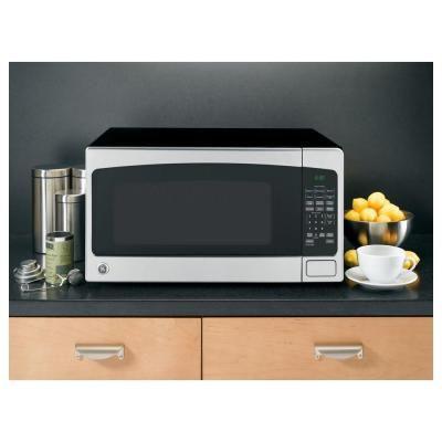 ... silver 1 200 watt countertop steel countertop countertop microwaves ge
