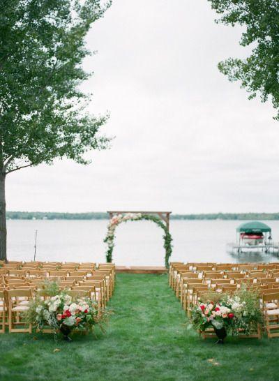 Chic: http://www.stylemepretty.com/2015/04/14/rustic-chic-minnesota-lakeside-wedding/   Photography: Laura Ivanova - http://www.lauraivanova.com/