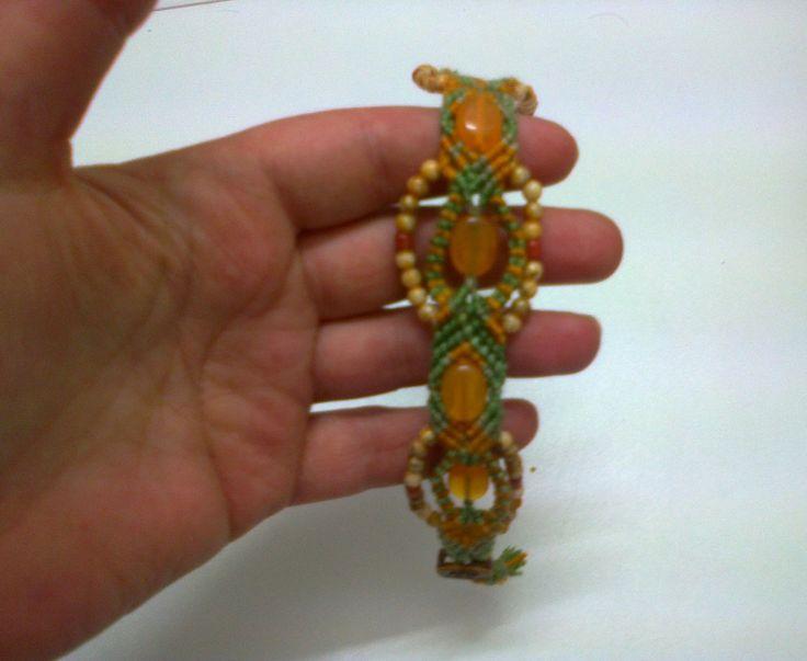 Unique micro-macramé bracelet avec des perles de rocaille : Bracelet par crochet-et-bijoux-unique