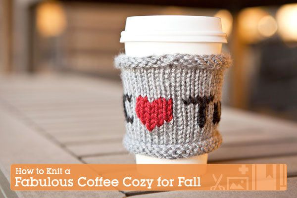 How to Knit a Fabulous Tuts  Coffee Cozy for Fall