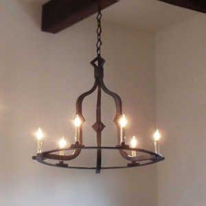 Wrought Iron Chandeliers // Fully Customizable // Illuminaries Lighting
