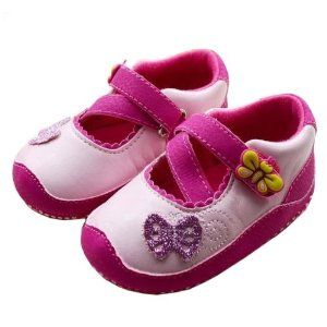 Sepatu Bayi Perempuan - ECOSCO Bayi Glitter Kupu-kupu Princess Buds Ballet Sandal sepatu Balita (12 ~ 15 Bulan) | Pusat Sepatu Bayi Terbesar dan Terlengkap Se indonesia