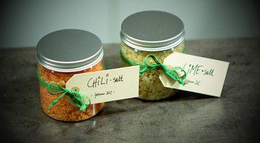 Chilisalt og Limesalt – en god værtindegave