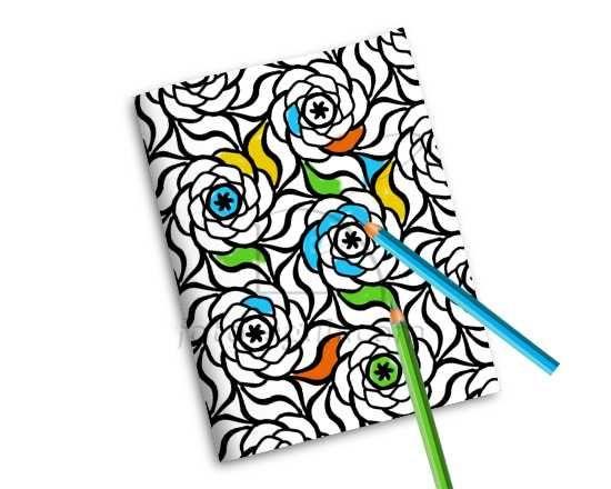 Quaderno Copertina da Colorare Big flowers