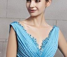 Вдохновляющая картинка 2013, синий, шифон, вечер, мода, долго, платье для выпускного вечера, V-образный вырез, 716629 - Размер 600x900px - Найдите картинки на Ваш вкус