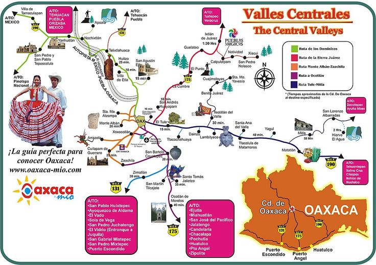 Map of things to do in the Oaxaca Valley
