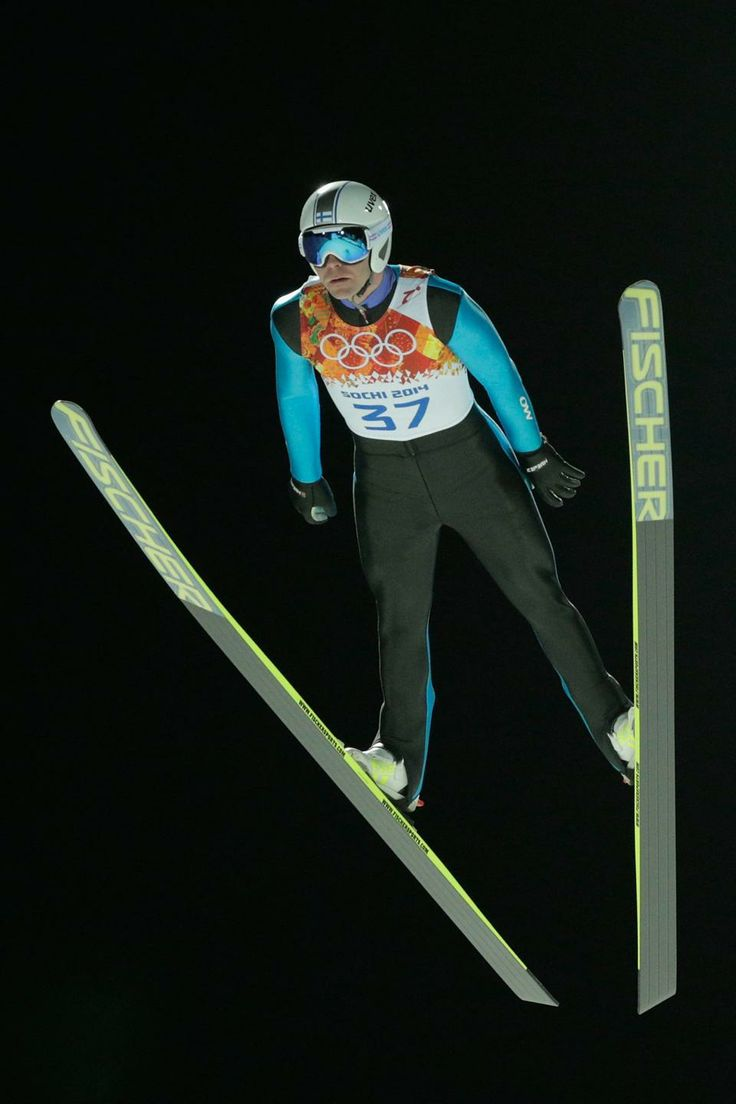 DAY 8:  Janne Ahonen of Finland competes during the Ski Jump Men's Large Hill Individual Qualification http://sports.yahoo.com/olympics