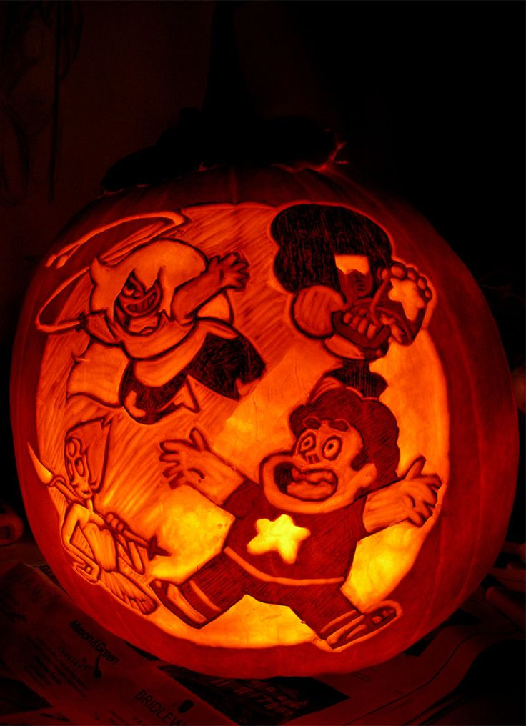 Second pumpkin of the season!! :D I love Steven Universe ...